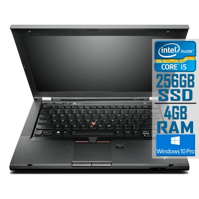 "Lenovo ThinkPad T430 14"" i5-3320M SSD 256GB/4GB Refurbished"