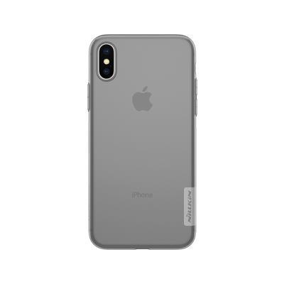 Funda Silicona Nillkin iPhone X Transparente Oscuro