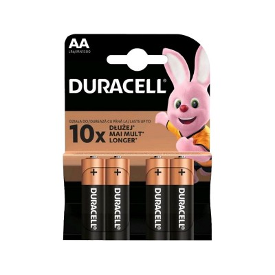 Pilhas Duracell Plus AA 1.5V Pack 4