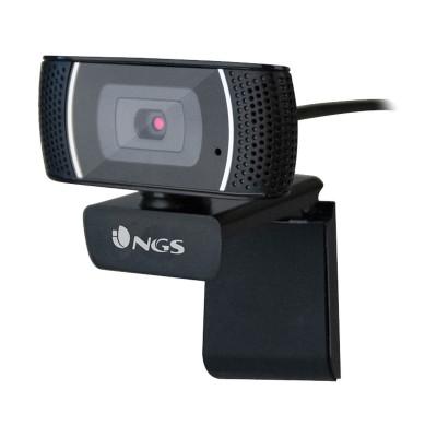 Webcam w/ Microphone NGS XpressCam 1080 FHD Black