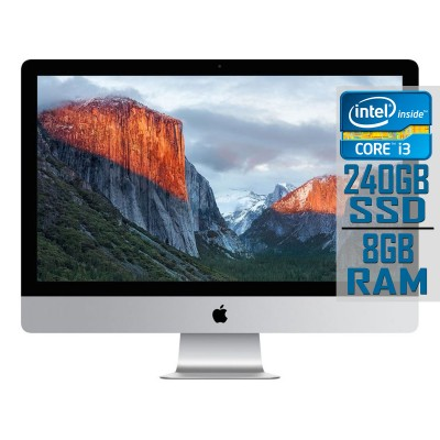 "Apple iMac A1418 21"" i3 3.3GHz SSD 240GB/8GB Recondicionado"