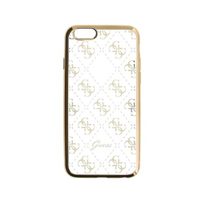 Guess Silicone Case iPhone 5/SE Gold (GUHCPSETR4GG)
