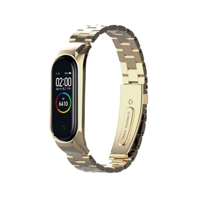 Steel Bracelet Mi Band 3/4 Gold