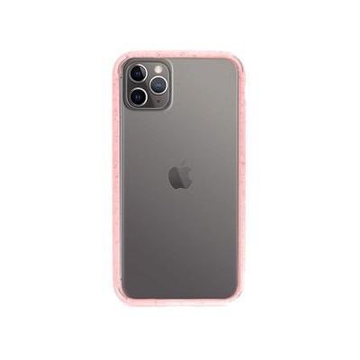 Capa Silicone iPhone 11 Pro Transparente/Rosa