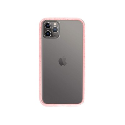 Funda Silicona iPhone 11 Pro Transparente/Rosa