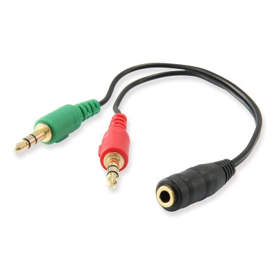 Audio Cable Jack 3.5mm to 2x Jack 3.5mm Equip 13cm (147942)