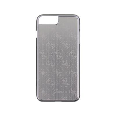Capa Metalica Hardcase Guess iPhone 7 Plus Prateado (GUHCP7LMESI)