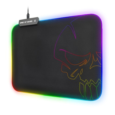 Mousepad Spirit Of Gamer Skull RGB 300x230mm Black (SOG-PADMRGB)