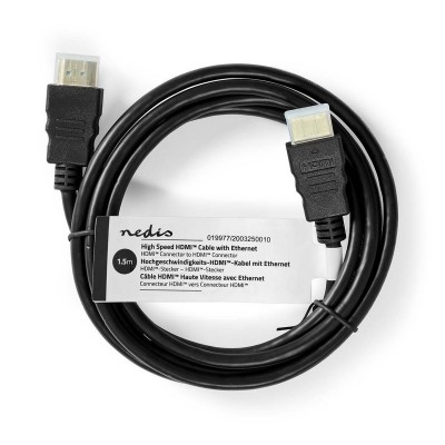 HDMI cable Nedis High Speed w/ Ethernet 1.5m Black