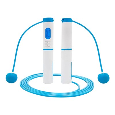 Professional Skipping Rope With Electronic Counter Blue