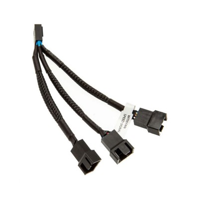 Cable EKWB Y 4-Pin for 3 Fans Black