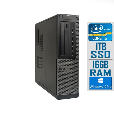 Desktop Dell 7010 DT i5-3470 SSD 1TB/16GB Refurbished