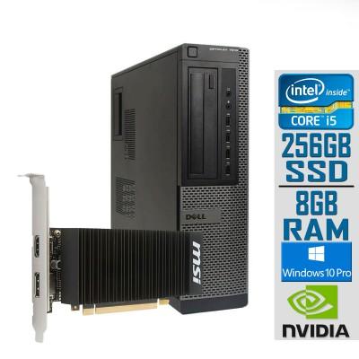 Desktop Dell 7010 DT i5-3470 GT1030 SSD 256GB/8GB Refurbished