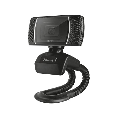 Webcam Trust Trino HD c/Microfone Preta (18679)