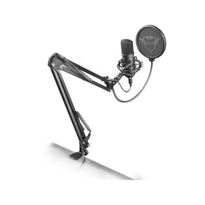 Microfone Trust GXT 252 + Emita Plus Streaming Microphone Preto (22400)