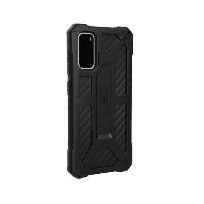 Capa Silicone UAG Samsung Galaxy S20 Monarch Carbon Fiber Preta