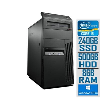 Torre Lenovo ThinkCentre M83 Mini Tower i5-4430 SSD 240GB+500GB/8GB Recondicionado