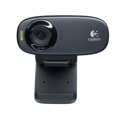 Webcam c/ Microfone Logitech C310 HD Preta