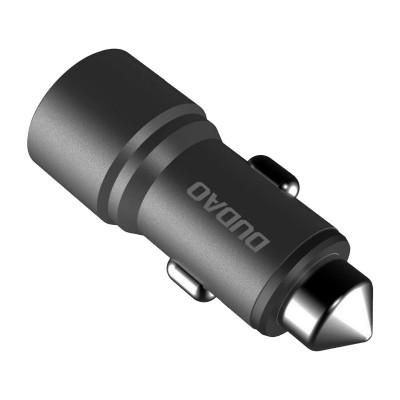 Lighter Charger Dudao 2 USB/3.1A Black