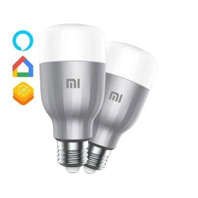 Lâmpada Inteligente Xiaomi Mi LED Smart Bulb RGB (Pack 2)