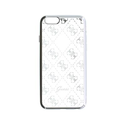 Guess Silicone Case iPhone 5S/SE Silver (GUHCPSETR4GSI)