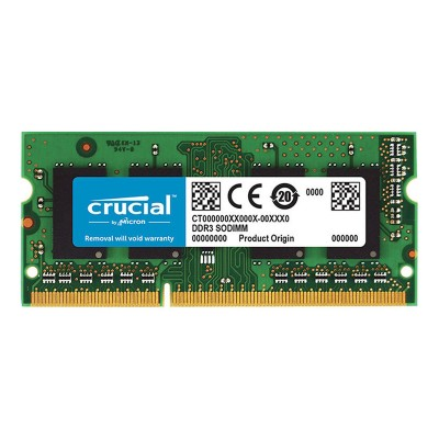 RAM Memory Crucial 4GB DDR3 1600MHz SO-DIMM to MAC