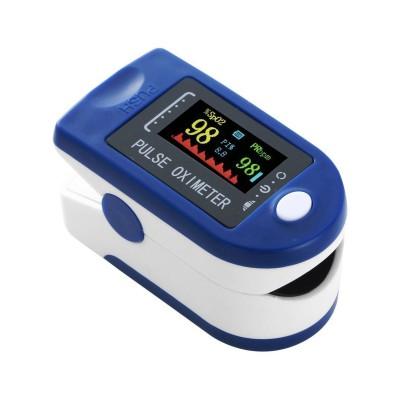 Monitor de Pulso/Oxímetro de Dedo Azul/Branco