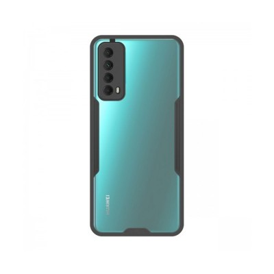 Silicone Cover Huawei P Smart 2021 Black/Transparent