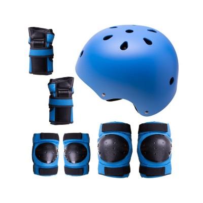 Conjunto de Proteção p/Patins, Skate, Bicicleta Tamanho M Azul