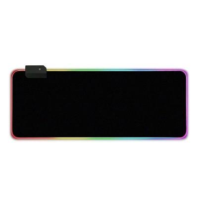 Tapete Gaming RGB LED 800x300mm Preto