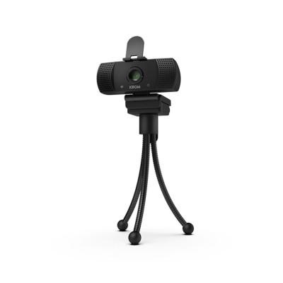 Webcam Krom NOX Kam FHD c/Microfone + Tripé Preta (NXKROMKAM)