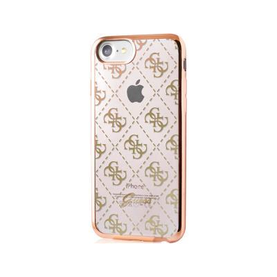 Capa Silicone Guess iPhone 7 Dourada (GUHCP7TR4GG)