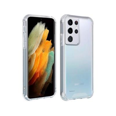 Capa Silicone Reforçado Samsung Galaxy S21 Ultra Transparente
