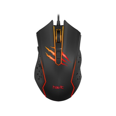 Rato Gaming Havit MS1027 2400 DPI Preto