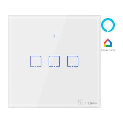 Interruptor Inteligente Tátil Sonoff T1EU3C Branco