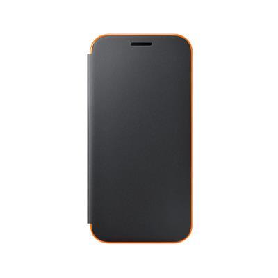 Original Neon Flip Cover Case Samsung A3 2017 Black (EF-FA320PBE)
