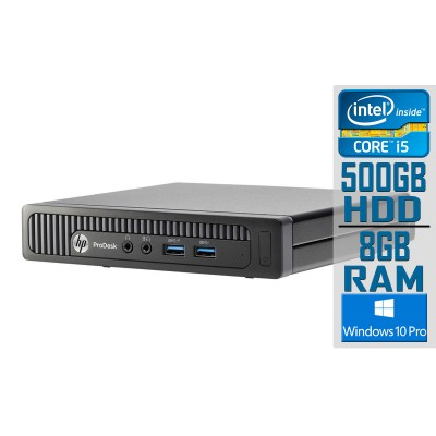 Desktop HP ProDesk 600 G1 Mini i5-4590T 500GB/8GB Black Refurbished