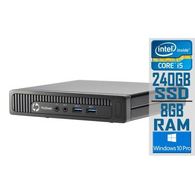 Desktop HP ProDesk 600 G1 Mini i5-4590T SSD 240GB/8GB Black Refurbished
