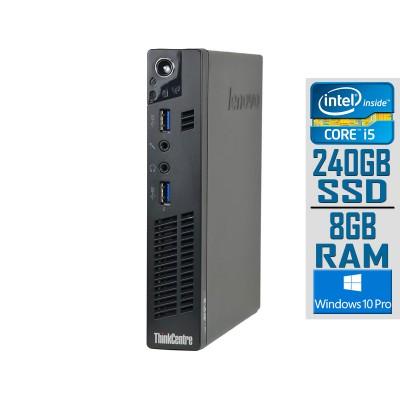 Desktop Lenovo ThinkCentre M92p Tiny i5-3470T SSD 240GB/8GB Refurbished