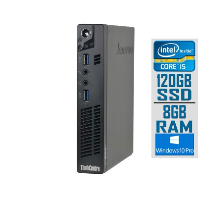 Torre Lenovo ThinkCentre M92p Tiny i5-3470T SSD 120GB/8GB Recondicionado