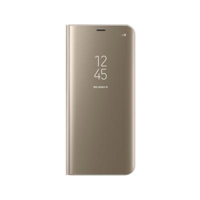 Capa Clear View Original Samsung S8 Dourada