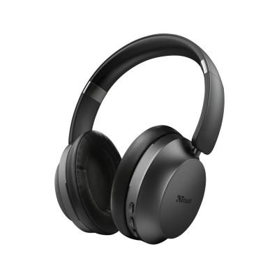 Auscultadores Bluetooth Trust Eaze Pretos (23550)