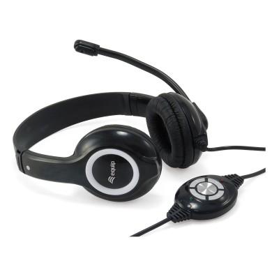 Headset Equip Life USB Black (245301)