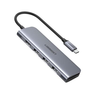 Hub Ugreen CM195 USB-C para USB 3.0/HDMI/SD/TF Cinzento