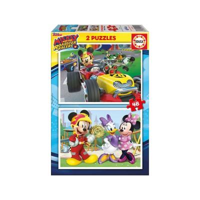 Puzzle Mickey e os Superpilotos 2x48 Peças
