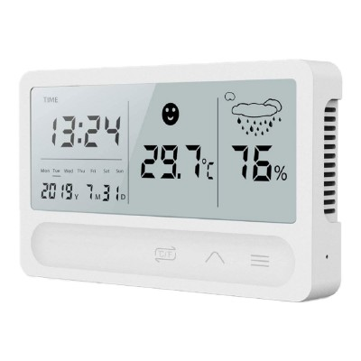Weather Station with Clock White