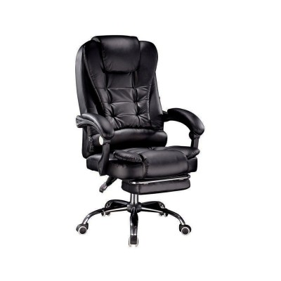 Office Executive Chair Leather Black