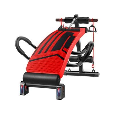 Exercise Bench Multifunctional w/Stand Red