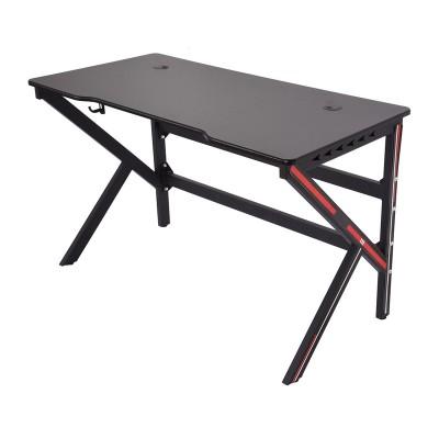 Gaming Table LED 120x60 Black