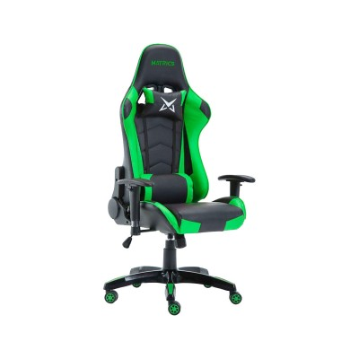 Cadeira Gaming Matrics Osiris Preta/Verde (410989)